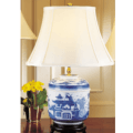 Mottahedeh Lamps Blue Canton Temple Jar Lamp
