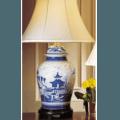 Mottahedeh Lamps Blue Canton Ginger Jar Lamp