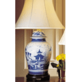Mottahedeh Lamps Blue Canton Ginger Jar Lamp