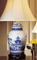 Mottahedeh Blue Canton Ginger Jar Lamp
