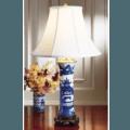 Blue Canton Trumpet Lamp