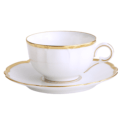 Robert Haviland & C. Parlon Colette Gold Tea Cup & Saucer