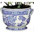 Mottahedeh Blue & White Floral Cachepot