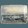 Mottahedeh Maps New York Harbor Rectangular Tray, Large