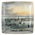 Mottahedeh Maps New York Harbor Square Tray