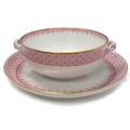 Mottahedeh Lace Pink Lace Cream Soup