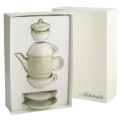 Mottahedeh Lace Tea For Two Boxed Set, Apple Green