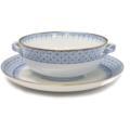 125 Cornflower Blue Lace Cream Soup