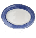 Mottahedeh Lace Blue Lace Oval Platter