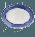 Mottahedeh Lace Blue Lace Oval Platter