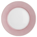 Mottahedeh Lace Pink Lace Service Plate