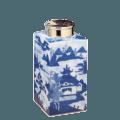 Mottahedeh Blue Canton Blue Canton Tea Jar, Small