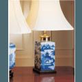 Mottahedeh Lamps Blue Canton Tea Jar Lamp, Small