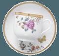 Mottahedeh Lowestoft Garden Teacup And Saucer, Set/4