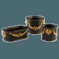 Mottahedeh Tony Duquette Round Cachepot Black/Gold, Large
