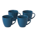 37 Maze Grill Mixed Pattern Blue Mug (Set of 4)
