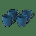 37 Maze Grill Mixed Pattern Blue Mug (Set of 4)