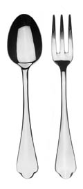 58 Serving Set (Fork And Spoon)