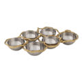 Michael Aram Wisteria Gold 6-Compartment Plate
