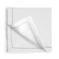90 Silver Thread Saddlestitch Dinner Napkins