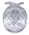 Mariposa Studio Glass Large Clear Pineapple Textured Bud Vase
