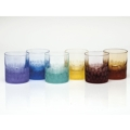 Moser Barware Pebbles D.O.F. 12.5 Oz. Set/6 Rainbow Colors