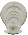 $59.00 Pickart Signature Gold Ivory Salad Plate, Monogrammed
