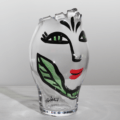 $285.00 Vase (clear/green)