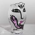 Kosta Boda Open Minds Vase (clear/pink)