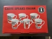 Verdici Italian Speak Set of 6 Mugs
