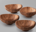 Over the Moon Exclusives Butterfly Individual Salad Bowl Set of 4
