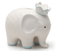 $44.00 Coco Blue Elephant Bank w/Vinyl Monogram