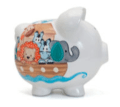38 Noah's Ark Bank w/Vinyl Monogram