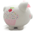 $38.00 Sprinkle Piggy Bank w/Vinyl Monogram