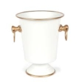 96 Ice Bucket White/Gold
