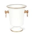 96 Ice Bucket White/Gold