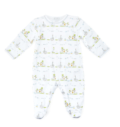 Polka-Dot Penguin Exclusives Kissy Kissy Noah's Ark Printed Footie Pajamas