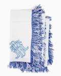 $45.00 Halo Home Blue Fringe Napkin w Monogram