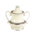 Pickard China Geneva Ivory Sugar Bowl & Cover