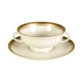 Pickard China Palace Palace Cream Soup Bowl & Saucer