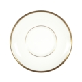 Pickard China Signature Ultra-White China Body Gold With No Monogram Can Tea Saucer