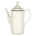 Pickard China Signature Ivory China Body Gold With No Monogram Pattern Can Beverage Server & Cover