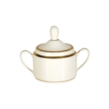 Pickard China Signature Ivory China Body Gold With No Monogram Pattern Can Sugar Bowl & Cover