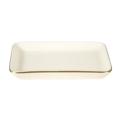 Pickard China Signature Ivory China Body Gold With No Monogram Pattern Large Sushi Tray