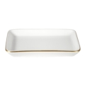 Pickard China Signature White China Body Gold With No Monogram Large Sushi Tray