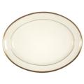 Pickard China Signature Ivory China Body Gold With No Monogram Pattern Oval Platter