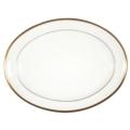 Pickard China Signature White China Body Gold With No Monogram Oval Platter