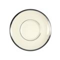 Pickard China Signature Ivory China Body Platinum With No Monogram Pattern Can Tea Saucer
