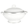 Pickard China Signature White China Body Platinum With No Monogram Covered Vegetable Bowl