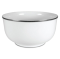 Pickard China Signature White China Body Platinum With No Monogram Large Round Bowl